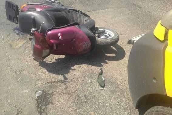 ДТП в Ільниці: п'яний мопедист зіткнувся з автівкою