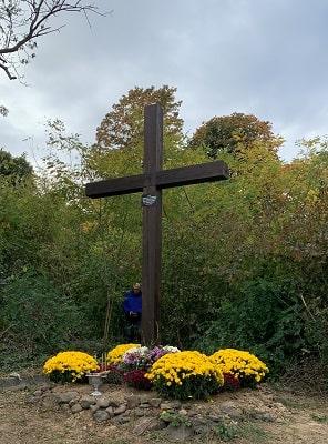 Партійці «Європейської Солідарності» відкрили в Ужгороді оновлений хрест на могилі січових стрільців (Фото, Відео)